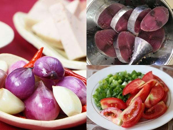 Các nguyên liệu cần thiết cho món bún cá ngừ