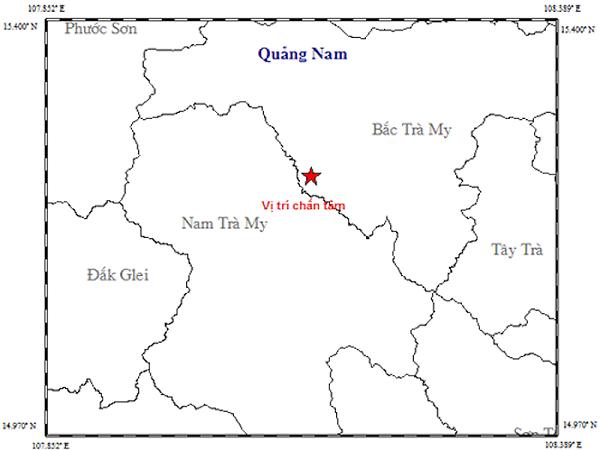 Động đất 3,1 độ richte tại Quảng Nam - Ảnh 1