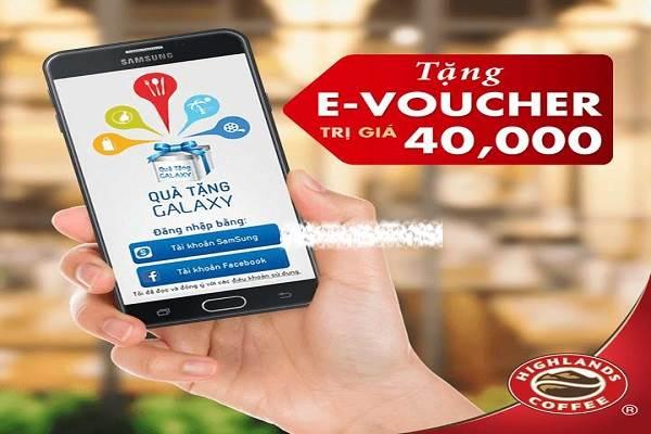 Từ ngày 01 - 31/12 nhận ngay voucher 40k khi đến Highlands Coffee từ Quà Tặng Galaxy - Ảnh 1