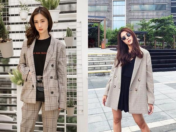 Chị em công sở hãy tinh tế chọn những chiếc blazer có hoa văn như caro, kẻ sọc để giúp chiếc áo có phần hơi nghiêm túc trở nên hiện đại, cá tính hơn