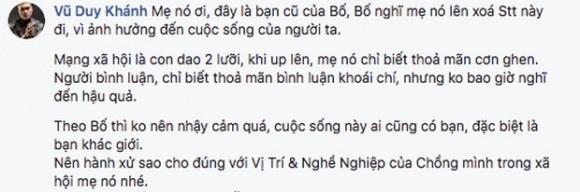 Nổi cơn cuồng ghen, bà xã Duy Khánh tố Thanh Hương 'Người phán xử' 'thả thính' chồng mình - Ảnh 3