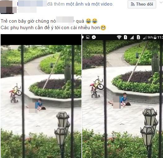 Đắng lòng trước cảnh 2 đứa trẻ tuổi mầm non làm 'chuyện người lớn' giữa công viên - Ảnh 1