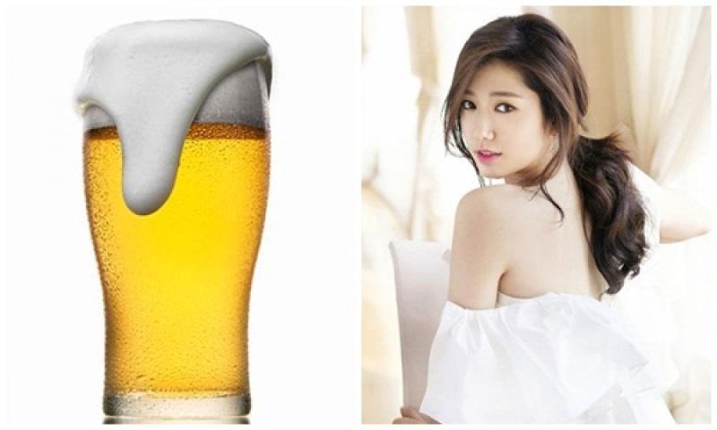 Da trắng mịn, hồng hào sau khi tắm trắng bằng bia.