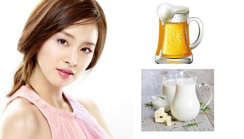 Da trắng hồng sau khi kiên trì áp dụng cách tắm trắng bằng bia và sữa tươi.