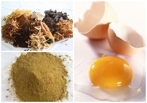 Kết hợp trứng gà với thuốc bắc giúp làm trắng da