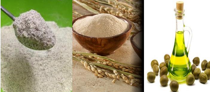 Sự kết hợp của bột đậu đỏ giúp làm trắng da với cám gạo thêm hiệu quả