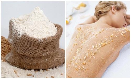 Dùng bột cám gạo tắm trắng tại nhà hiệu quả