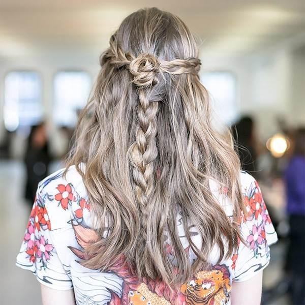 Các kiểu thắt tóc dễ thương thịnh hành vào mùa thu đông năm nay - Ảnh 4