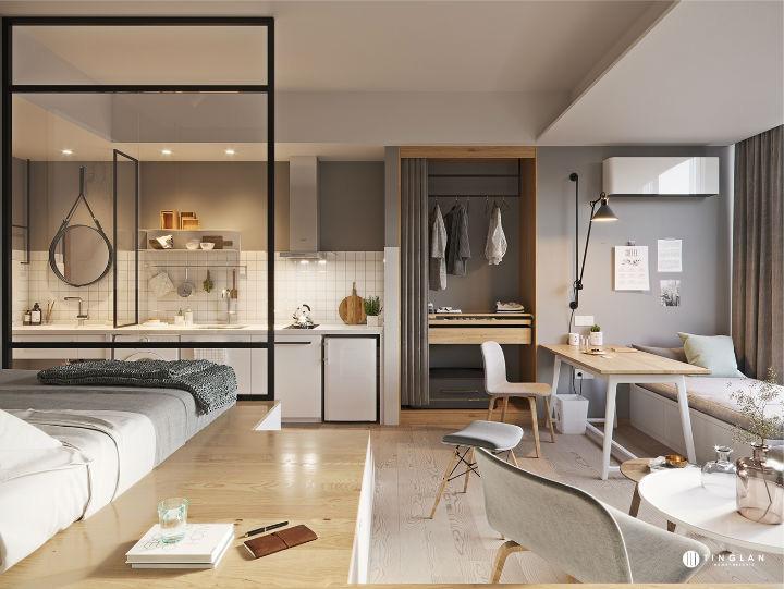 Ý tưởng thiết kế căn hộ kiểu studio 25m² nhỏ xinh, chất ngất ai nhìn cũng mê tít - Ảnh 3