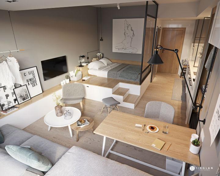 Ý tưởng thiết kế căn hộ kiểu studio 25m² nhỏ xinh, chất ngất ai nhìn cũng mê tít - Ảnh 4