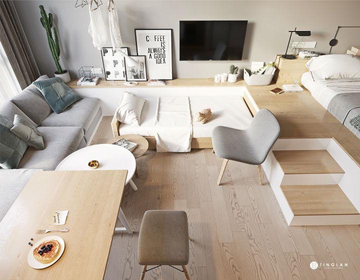 Ý tưởng thiết kế căn hộ kiểu studio 25m² nhỏ xinh, chất ngất ai nhìn cũng mê tít - Ảnh 6