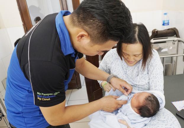 Sản phụ sinh con 5,2kg ở BV Phụ sản Hà Nội: Chủ yếu ăn rau, 9 tháng không hết 1 hộp sữa bầu - Ảnh 1