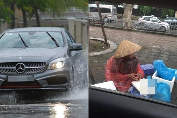 Thấy bạn trai phóng xe sang làm nước bẩn té khắp người mẹ bán cá bên vỉa hè, cô gái đã làm 1 hành động khiến ai cũng bái phục - Ảnh 1