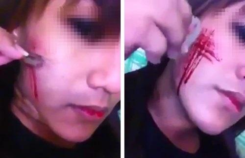 Sống ảo, câu like và những hệ lụy đau lòng: Thiếu nữ tự dùng dao rạch mặt, đội đồ lót lên đầu khiến mạng xã hội xôn xao - Ảnh 1
