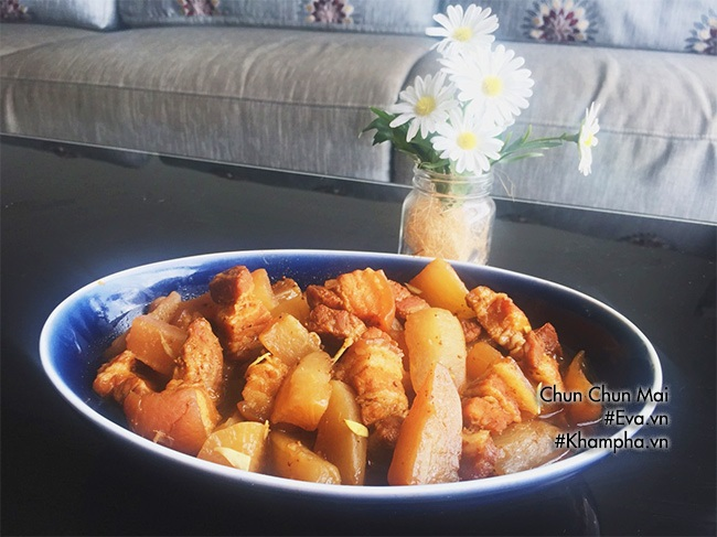 Thịt ba chỉ kho củ cải thơm ngon, mềm tan trong miệng - Ảnh 6