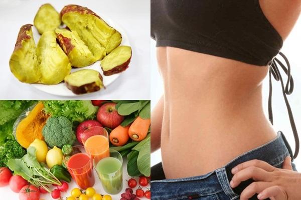 Thực đơn ăn khoai lang với các loại rau củ khác giúp giảm cân nhanh chóng
