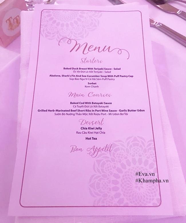 Thực đơn tiệc cưới khủng của Hoa hậu Đặng Thu Thảo và chồng đại gia