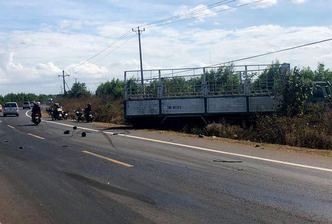 Vụ xe tải gãy trục, mất lái, tông chết 3 chị em: Xe tải sản xuất ở Trung Quốc - Ảnh 1