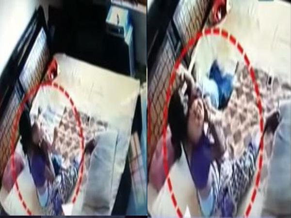 Sốc: Clip mẹ đánh đập, bóp cổ con trai 1 tuổi dã man - Ảnh 2