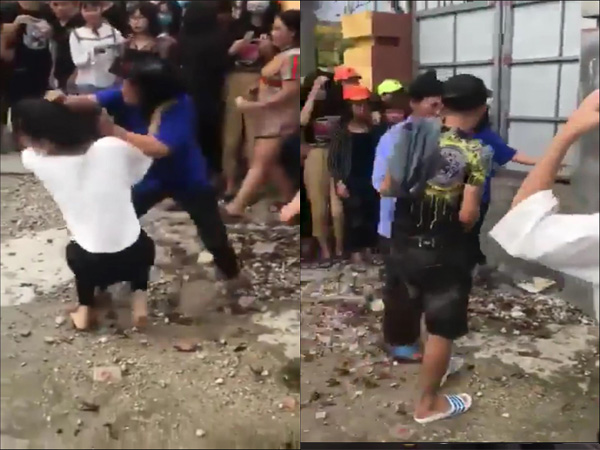 Phẫn nộ clip đám đông cổ vũ hai nữ sinh đánh nhau - Ảnh 2