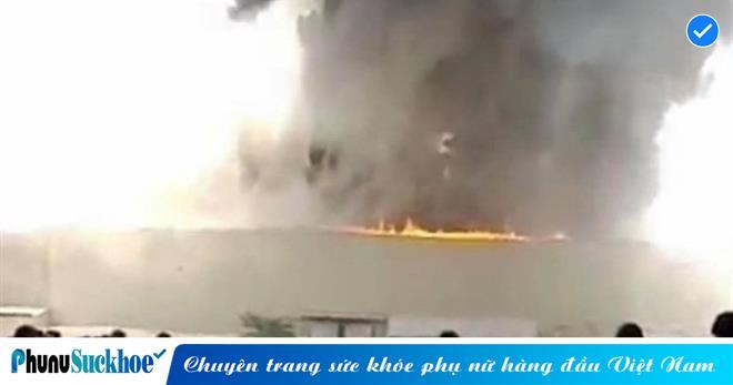 Cháy lớn tại Khu công nghiệp Sóng Thần 2 Bình Dương