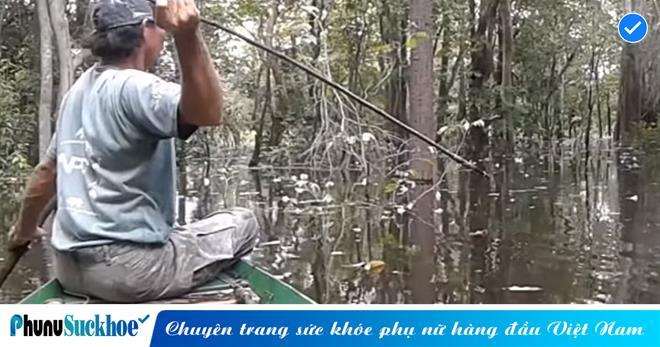 Người đàn ông săn loài 'CÁ ĂN THỊT NGƯỜI' chỉ bằng một cây lao tre nhỏ bé, nhìn vào tưởng đùa nhưng thành quả khiến ai cũng HÁ HỐC MỒM
