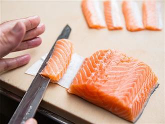 Đã mắt xem quy trình chế biến sashimi cá hồi
