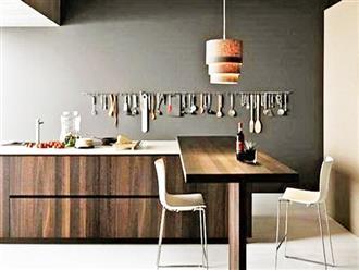 Bí quyết làm sáng bừng sắc gỗ nơi góc bếp