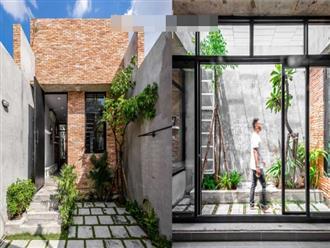 Mang không gian xanh vào trong ngôi nhà gạch nhỏ