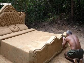 Cận cảnh quy trình chế tạo công phu giường ngủ hoàng gia giữa rừng bằng đất sét