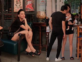 Hồ Ngọc Hà - Kim Lý đưa 3 nhóc tỳ đi dạo phố, mọi chú ý đổ dồn vào 'đôi chân cực phẩm' của Nữ hoàng giải trí