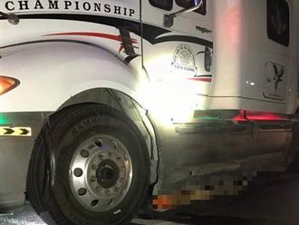 Sau tai nạn, thi thể nạn nhân bị kéo lê dưới gầm xe container khoảng 60km mới phát hiện