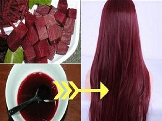Bỏ túi bí quyết nhuộm tóc bằng củ dền, mất 20k vừa có mái tóc đẹp vừa không sợ hóa chất độc hại