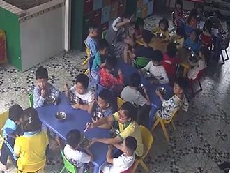 Bức xúc: Clip cô giáo mầm non ở quận 9 đánh, cắn học sinh trong giờ ăn