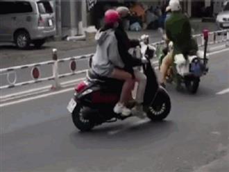 Pha bẻ lái kinh điển của anh thanh niên khi bị cảnh sát giao thông thổi còi khiến cho nhiều người xem khiếp vía