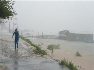 Tường thuật tại tâm bão miền Trung: mưa to, gió rít liên hồi