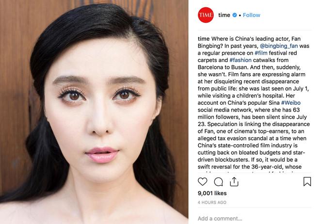 Tạp chí Time đặt vấn đề về việc Phạm Băng Băng mất tích - Ảnh 1