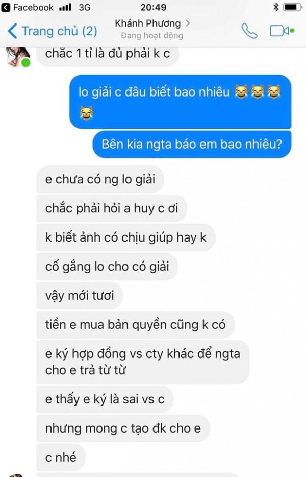 Rò rỉ tin nhắn tố á hậu Khánh Phương quỵt tiền, mua thành tích tại Hoa hậu Siêu quốc gia 2017 - Ảnh 2