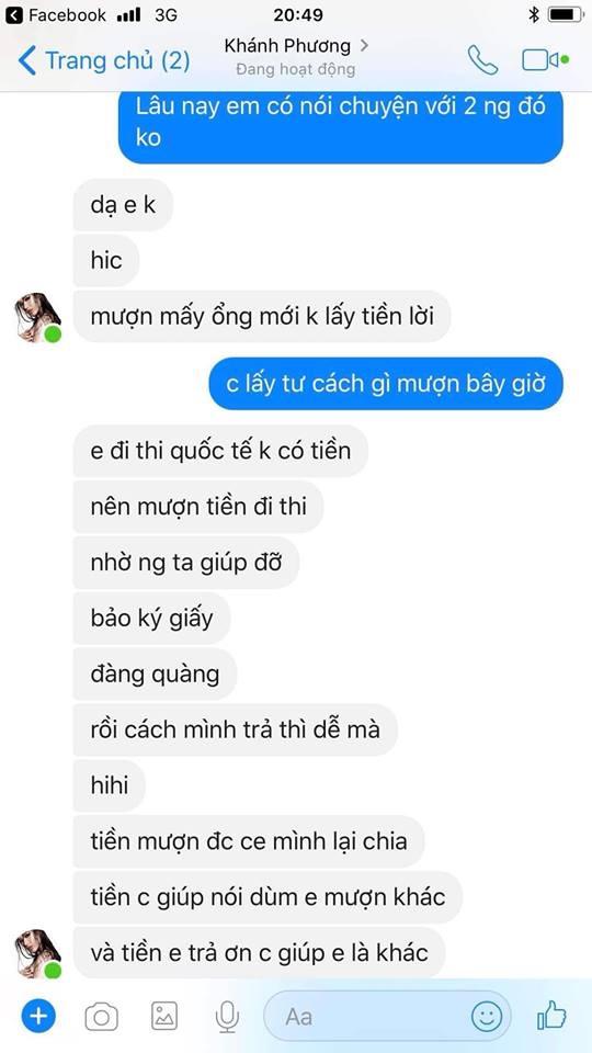 Rò rỉ tin nhắn tố á hậu Khánh Phương quỵt tiền, mua thành tích tại Hoa hậu Siêu quốc gia 2017 - Ảnh 3
