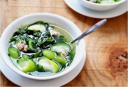 Món canh rau mồng tơi nấu cật heo ngay có tác dụng bổ thận tráng dương, tăng cường sức khỏe