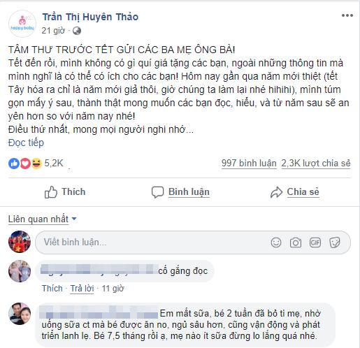 'Tâm thư trước Tết gửi các ba mẹ, ông bà' của bác sĩ Trần Thị Huyên Thảo 'gây bão' mạng xã hội - Ảnh 1