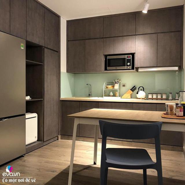 Không gian phòng ngủ và phòng bếp.