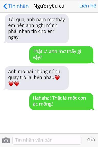 Cười té ghế với những màn đáp trả tin nhắn người yêu cũ