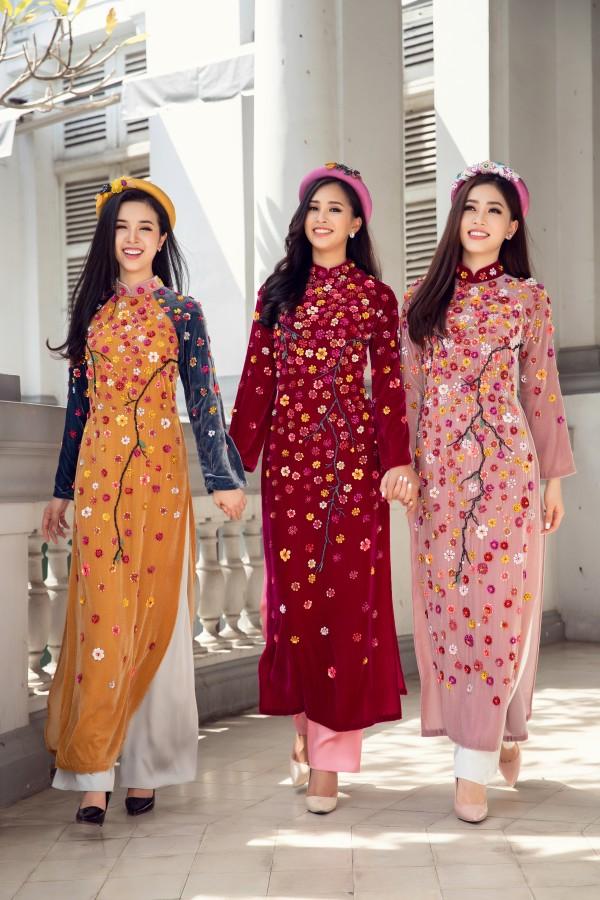 Hoa hậu Tiểu Vy cùng hai á hậu diện áo dài Xuân rạng rỡ khoe nhan sắc - Ảnh 5