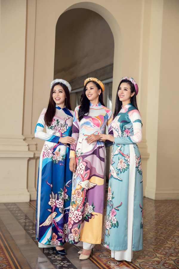 Hoa hậu Tiểu Vy cùng hai á hậu diện áo dài Xuân rạng rỡ khoe nhan sắc - Ảnh 6