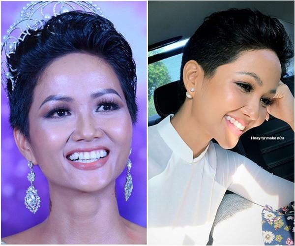 Sau một quá trình niềng răng, H'Hen Niê đã có thể tự tin, cười rạng rỡ với một hàm răng đều tăm tắp và trắng sáng. Trước đó, hàm răng khấp khểnh cũng khiến đại diện Việt Nam tại Miss Universe 2018 mất tự tin trước đám đông. Ảnh minh họa: Internet