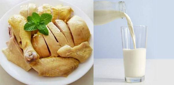 Điều gì xảy ra nếu bạn uống sữa khi ăn thịt gà - Ảnh 1