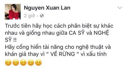 Xuân Lan 'dằn mặt' Á quân Vietnam Idol 2012 xấu tính vì cố tình phát ngôn gây sốc - Ảnh 1