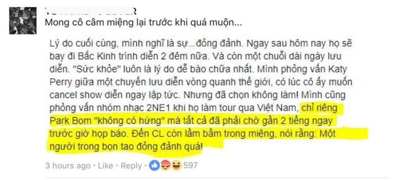 Không chỉ chê Ariana Grande đỏng đảnh mà còn móc mỉa 2NE1, MC Thùy Minh khiến fan tức giận  - Ảnh 3