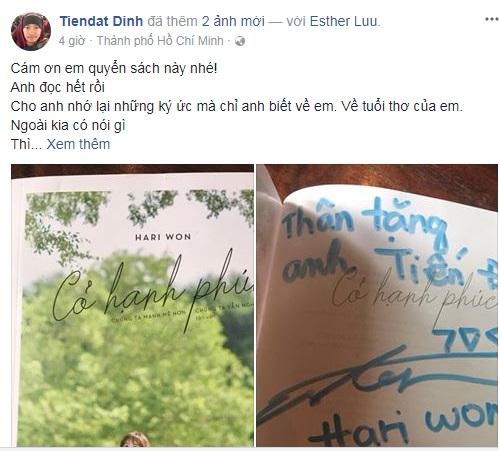 Bị Hari Won nêu đích danh trong tự truyện, Tiến Đạt nhắn nhủ: 'Em cứ yên tâm rằng em sẽ lại bị chửi tiếp' - Ảnh 2